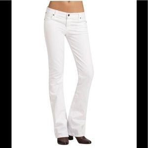 Anthro COH White Kelly low rise bootcut leg jeans